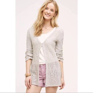 Anthropologie knitted and knotted Bella Cardigan S